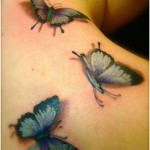 tatouages 3d papillons dos - wikitattoo.fr
