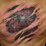 Tatouage araignee 3D SpiderMan 3d-tattoo - wikitattoo.fr