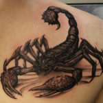 3d tatouage scorpion - wikitattoo.fr