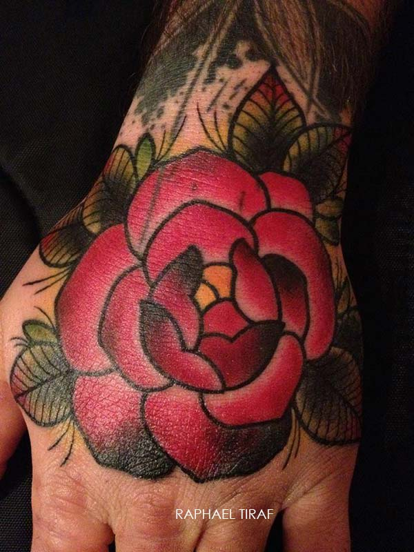 tatouage tattoo rose main raphael-tiraf